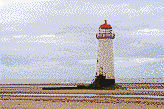 Talacre Lighthouse (North Wales) - Framed Mosaic Wall Art