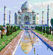 Taj Mahal - Framed Mosaic Wall Art