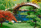 Japanese Garden - Framed Mosaic Wall Art