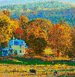 New England in the Fall (Vermont) - Framed Mosaic Wall Art