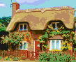 Ampthill Cottage - Framed Mosaic Wall Art