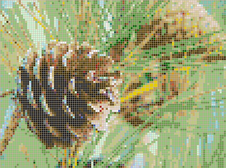 Conifer Cone - Mosaic Wall Picture Art