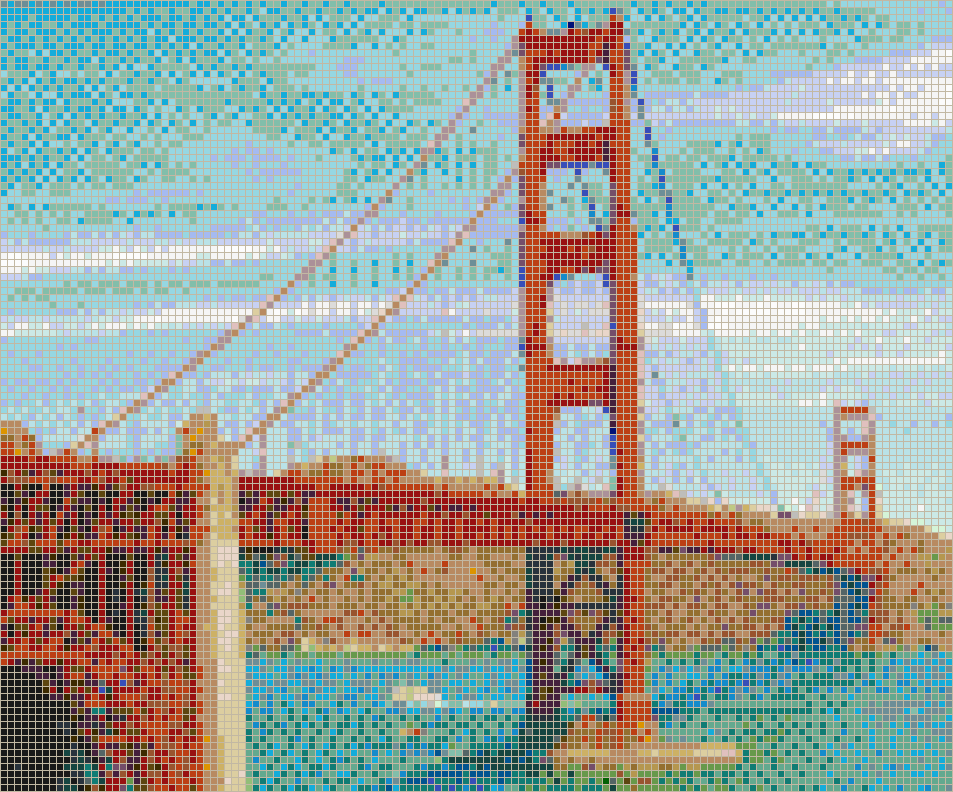 Golden Gate Bridge - Mosaic Wall Picture Art