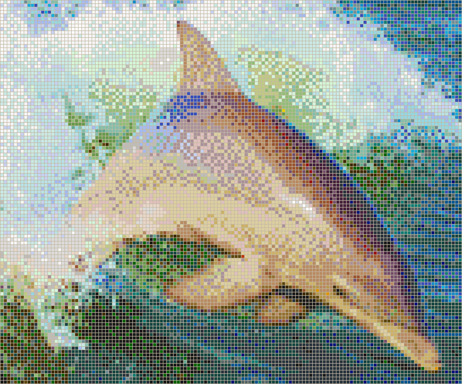 Dolphin Jumping in Wake - Mosaic Wall Picture Art