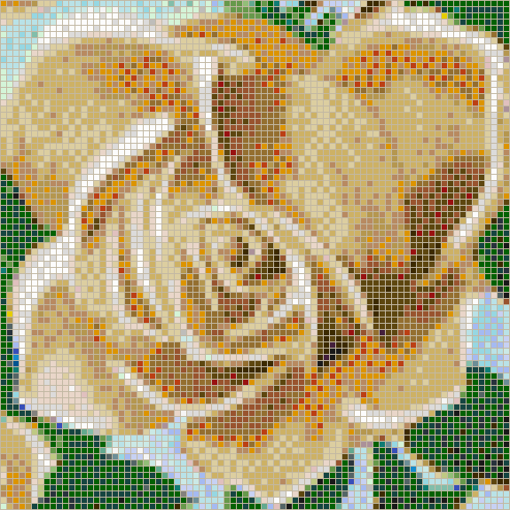 Fairy Rose (Apricot) - Mosaic Wall Picture Art