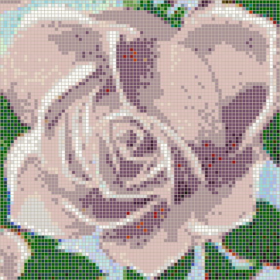 Fairy Rose (Lilac) - Mosaic Wall Picture Art