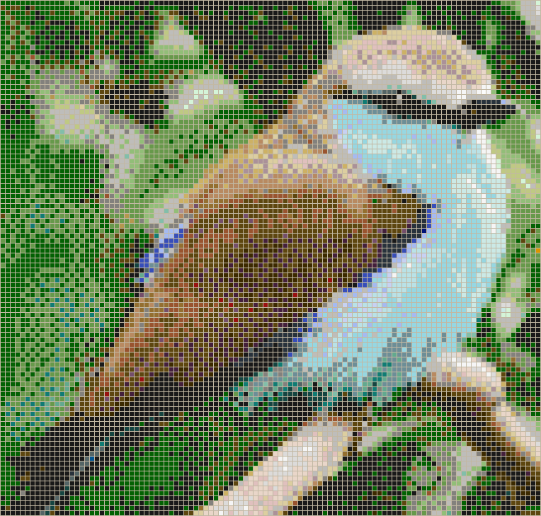 Blue Breasted Bird - Mosaic Wall Picture Art