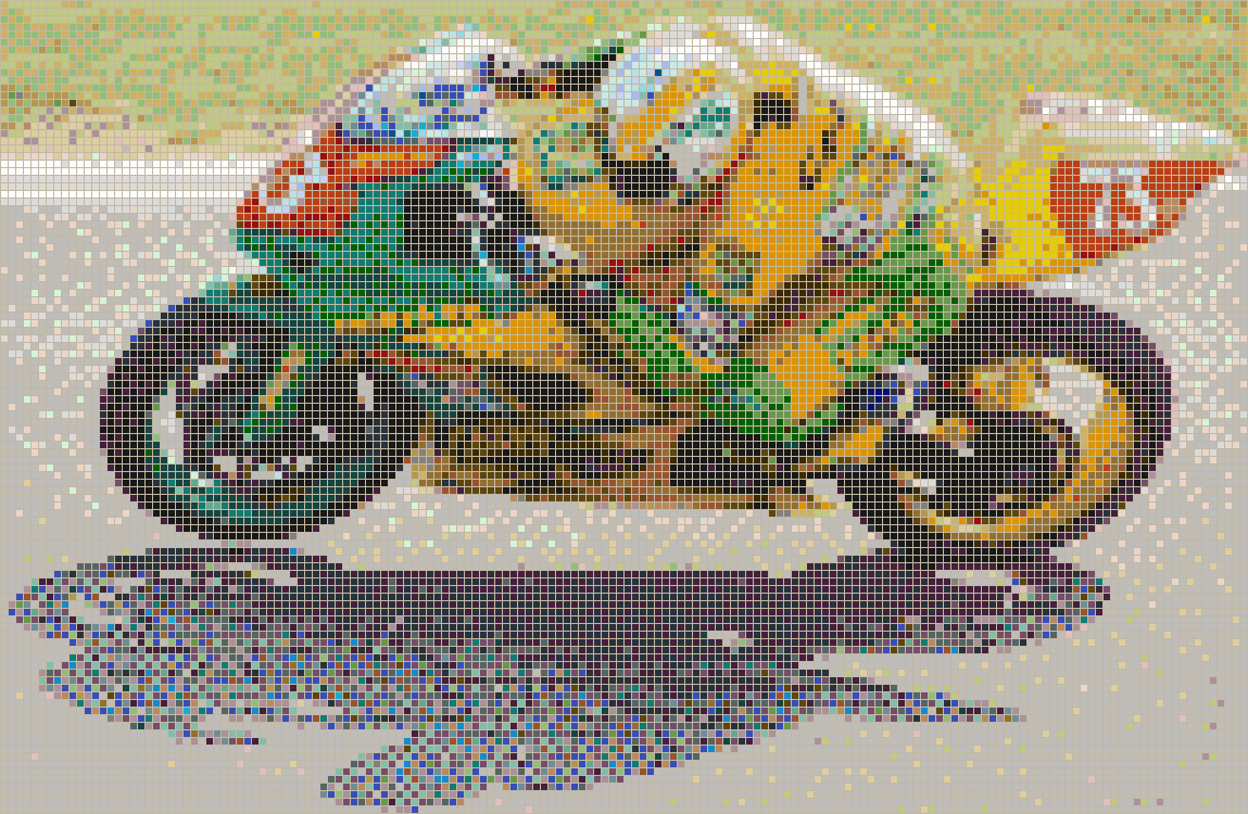 Suzuki GSXR600 at Brands Hatch - Mosaic Wall Picture Art
