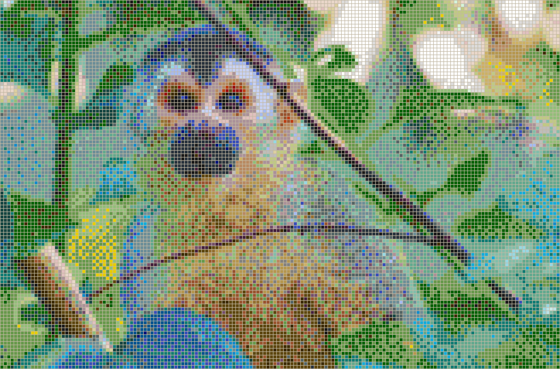 Central American Squirrel Monkey - Mosaic Wall Picture Art