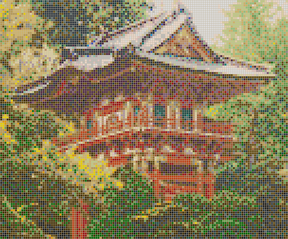 Pagoda (Japanese Tea Garden) - Mosaic Wall Picture Art