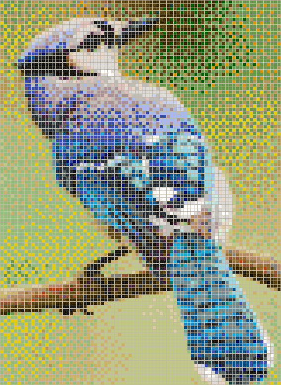 Blue Jay - Mosaic Wall Picture Art