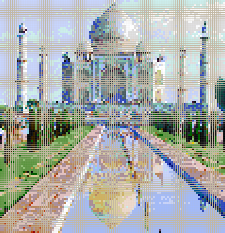 Taj Mahal - Mosaic Wall Picture Art