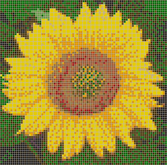 Sunflower - Mosaic Wall Picture Art