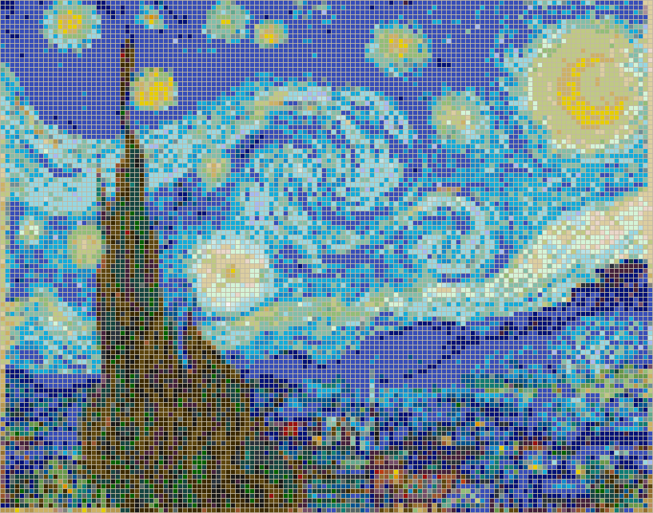 Starry Night (Van Gogh) - Mosaic Wall Picture Art