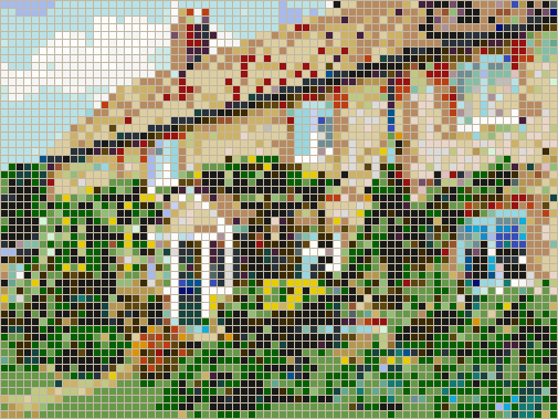 Cottage in Spring - Mosaic Wall Picture Art