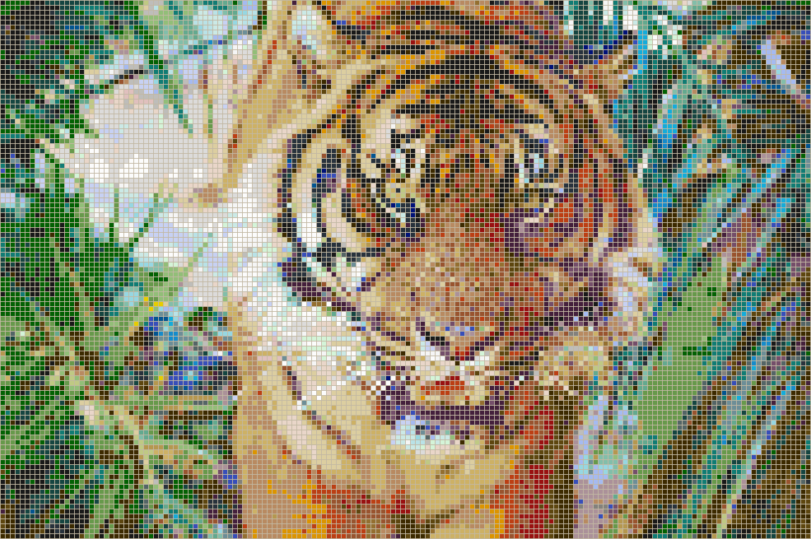 Sumatran Tiger - Mosaic Wall Picture Art