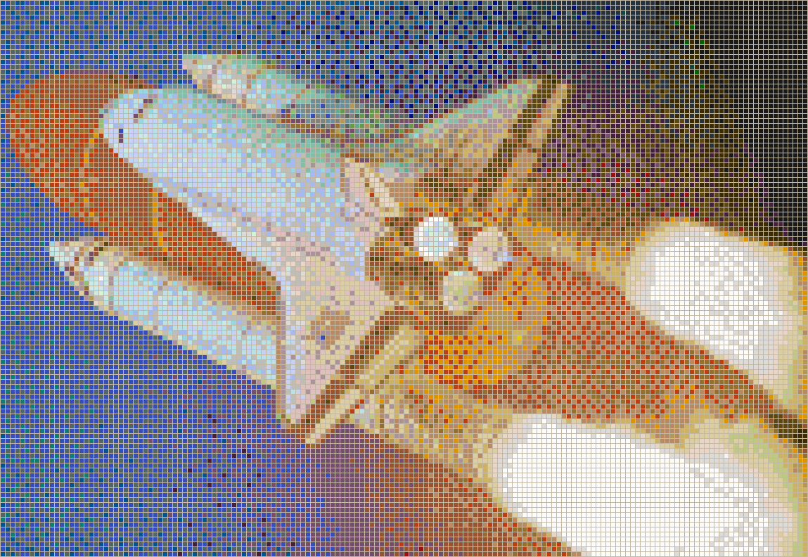 Launch of Discovery Space Shuttle - Mosaic Wall Picture Art