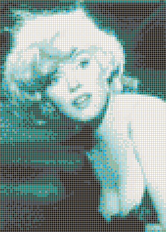 Marilyn Monroe (Some Like It Hot Trailer) - Mosaic Wall Picture Art