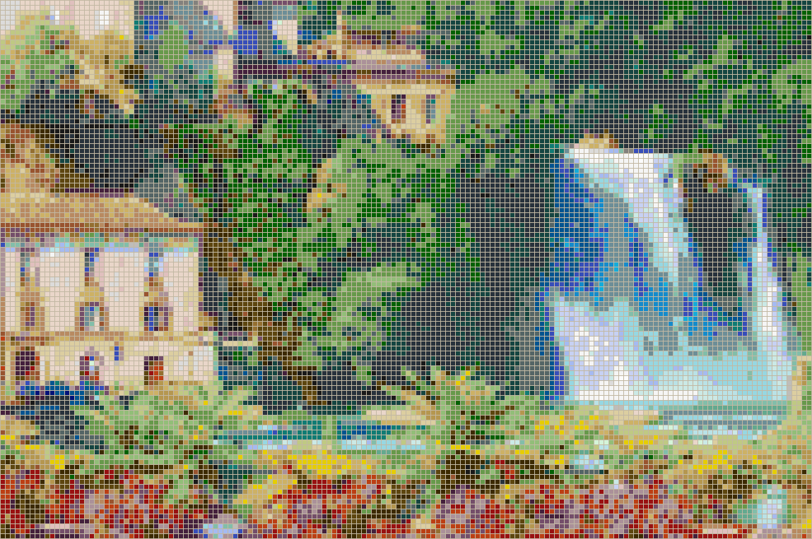 Italian Waterfall (Isola Liri) - Mosaic Wall Picture Art