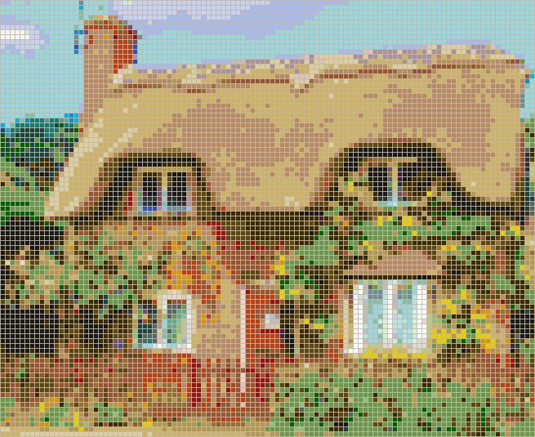 Ampthill Cottage - Mosaic Wall Picture Art