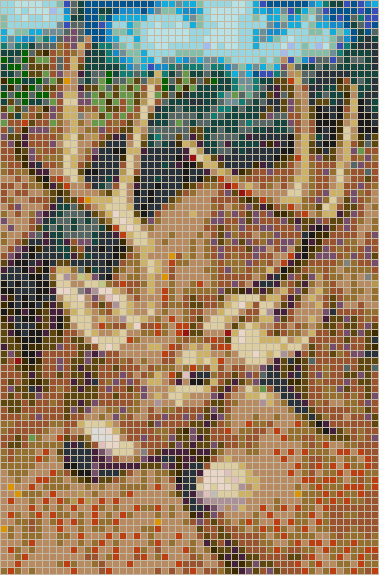 White-tailed Deer - Mosaic Wall Picture Art