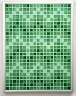 Jaded ZigZags - Framed Mosaic Accent
