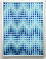 Aqueous ZigZags - Framed Mosaic Accent