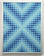 Aqueous Arrows - Framed Mosaic Accent