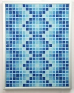 Aqueous DNA - Framed Mosaic Accent