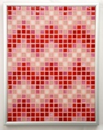 Candy ZigZags - Framed Mosaic Accent