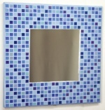 Winter Diamonds 29cm - Mosaic Tiled Mirror