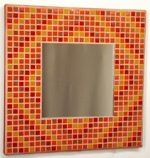 Autumn Diamonds 29cm - Mosaic Tiled Mirror