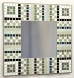 Art Deco Noir 29cm - Mosaic Tiled Mirror