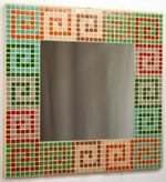 Serpentine Hues 40cm - Mosaic Tiled Mirror