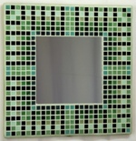 Egyptian Green 29cm - Mosaic Tiled Mirror