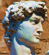 Head of Michelangelo's David - Mosaic Tile Art