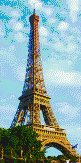 Eiffel Tower from the Seine - Mosaic Tile Art