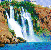 Duden Waterfall (Antalya, Turkey) - Mosaic Tile Art