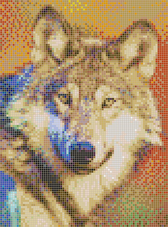 Grey Wolf - Mosaic Tile Picture Art