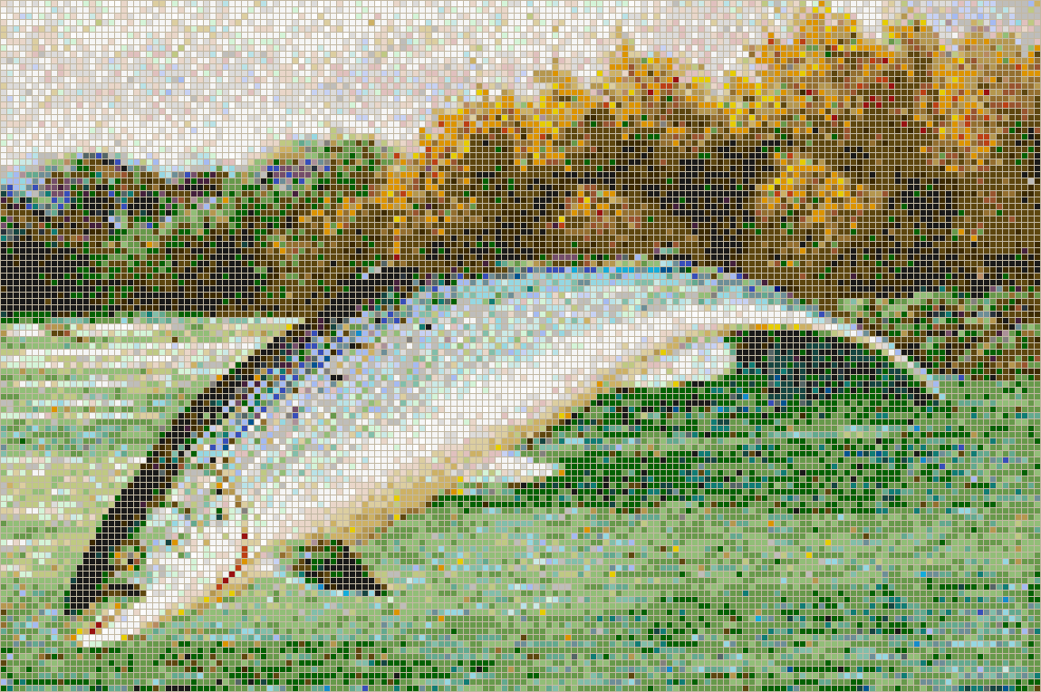 Salmon Leaping - Mosaic Tile Picture Art