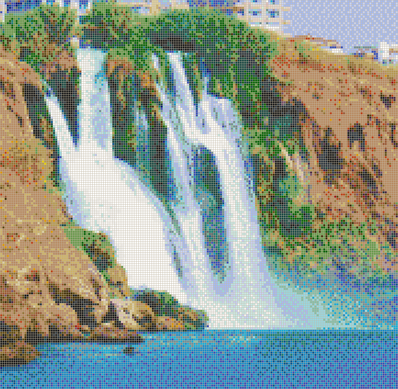Duden Waterfall (Antalya, Turkey) - Mosaic Tile Picture Art