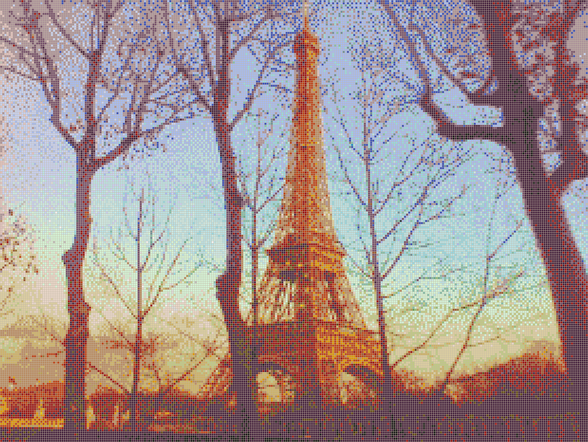 Eiffel Sunset - Mosaic Tile Picture Art