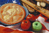 American as Apple Pie - Framed Mosaic Wall Art