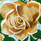 Fairy Rose (Apricot) - Framed Mosaic Wall Art