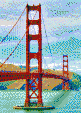 Golden Gate Bridge (May 2010) - Tile Mosaic