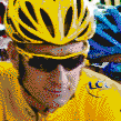 Bradley Wiggins winner of the Tour De France 2012 - Framed Mosaic Wall Art