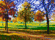 Autumn in the Park - Framed Mosaic Wall Art