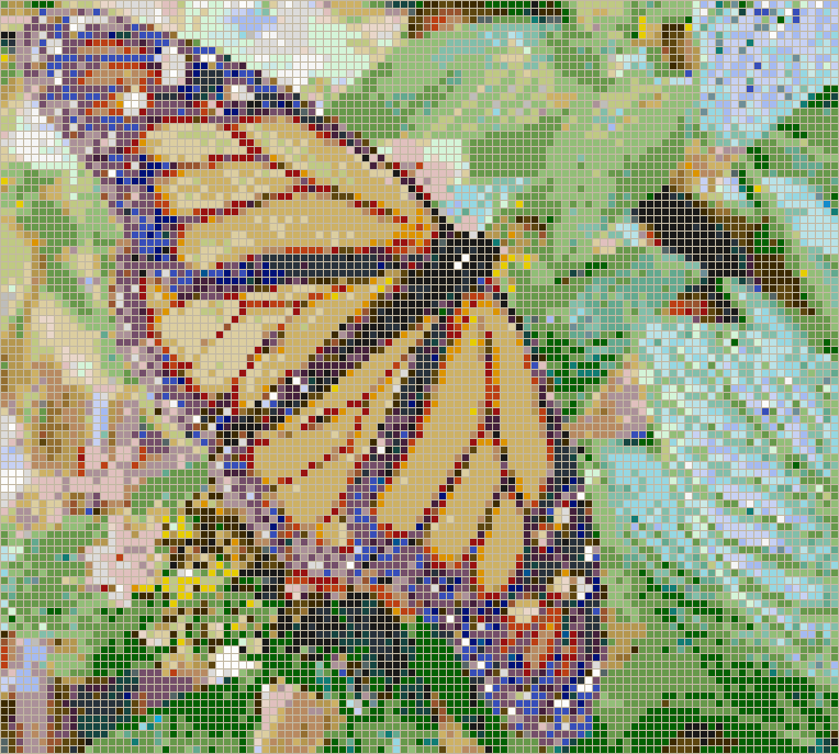 Monarch Butterfly - Mosaic Wall Picture Art
