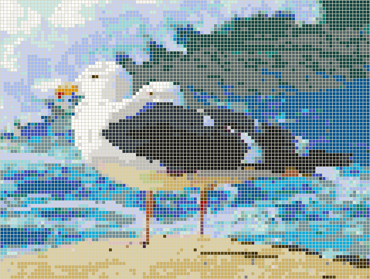 Seagulls by the Ocean - Mosaic Wall Picture Art